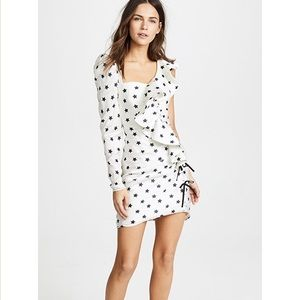 SELF PORTRAIT *Authentic* Printed Star Frill Dress